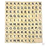 Blesiya 200x Wooden Letter Alphabet Tile Cards for Children Preschool Learning Toy