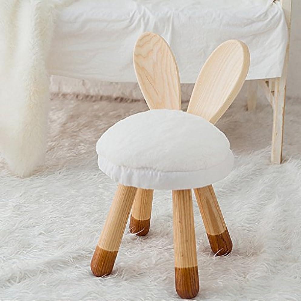 刺す異常バイバイチェア?テーブルアクセサリ 子供の贈り物赤ちゃんの椅子の家族素敵な低いスツールバニースツール無垢材手作り (Color : Wood, Size : 24*48 cm)