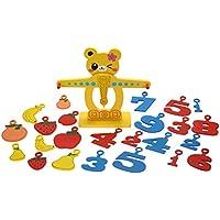Greensun TM Kids Montessori木製数学おもちゃ子供番号Fruits木製バランススケールおもちゃベビーEarly数学教育おもちゃ