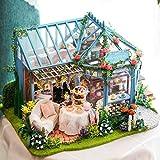 FSEARRT DIYドールハウス ミニハウス Rose Garden 手作りキットセット LEDライト付属 リビング インテリア プレゼント 癒しグッズ A-068