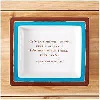 "Two's Company Wise Sayings Desk Tray,""Secret"""