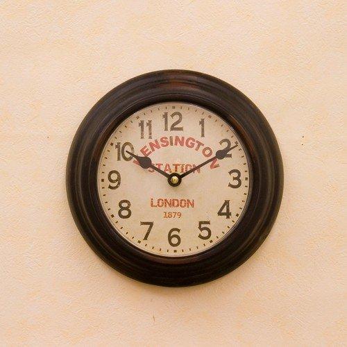 RoomClip商品情報 - プレステージ ウォールクロック/ケンシントンステーション ブラック/ラウンド 壁掛け時計 アンティーク時計