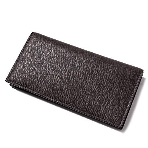 【ヴァレクストラ(VALEXTRA)】二つ折り財布 レザーウォレット カードホルダー お札入れ ブラウンV8L21 028000 [並行輸入品]