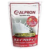 アルプロン -ALPRON- ホエイプロテイン ストロベリー風味 1kg アルプロン