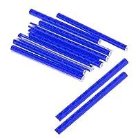 【ノーブランド品】 ABSチューブ 自転車 スポーク用  反射スポーク 反射スティック スポークリフレクター   全6色選べる 12本 - ブルー