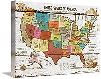 """壁アート印刷entitled 27x 39新しいorl-2989–3The United States of America by Irena Orlov 48"""" x 32"""" 5414526_5_thickbox"""