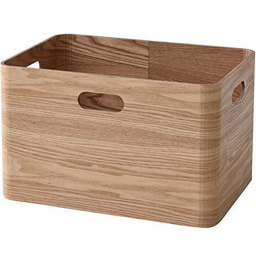 山善(YAMAZEN) 収納ボックス ナチュラル(タモ材) レギュラー 完成品 天然木(タモ材) 使用 TSB-1(NA)