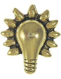 ジム?Cliftデザイン電球ゴールドラペルピン