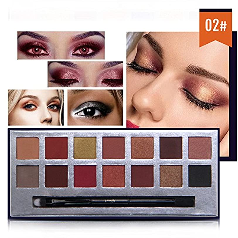 シャーくすぐったいコードAkane アイシャドウパレット NICEFACE 綺麗 マット 魅力的 ファッション 人気 クリーム 気質的 キラキラ チャーム 防水 長持ち おしゃれ 持ち便利 Eye Shadow (14色) E17088