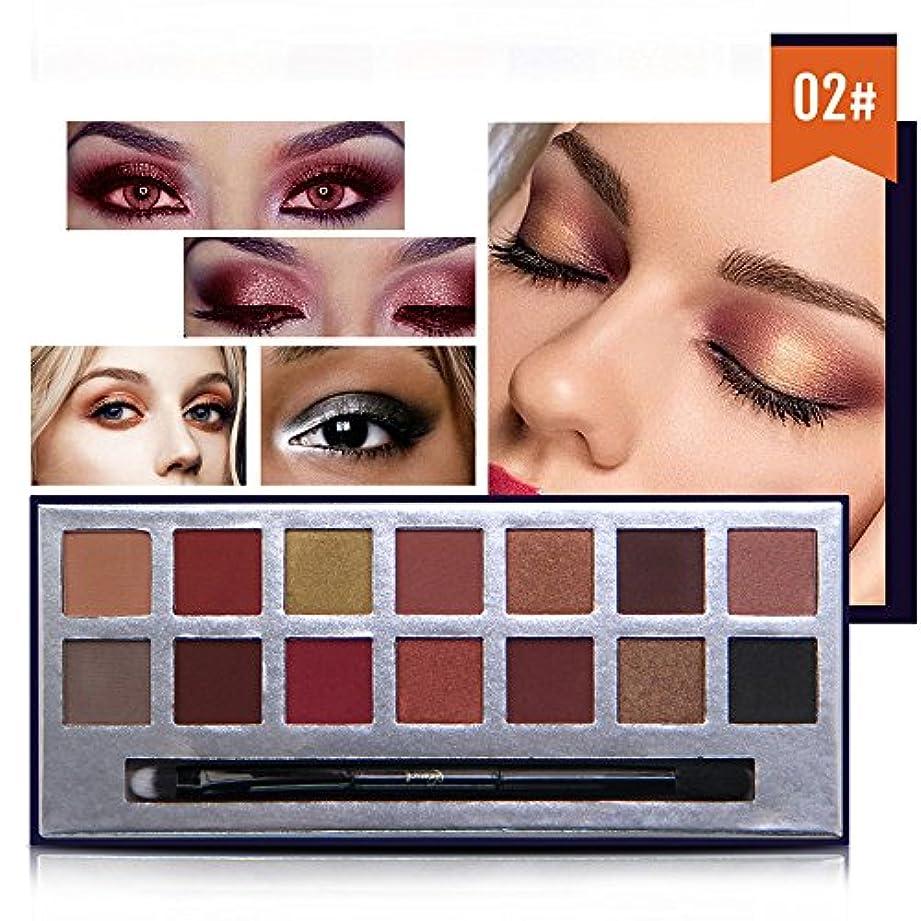 自動車地元ビスケットAkane アイシャドウパレット NICEFACE 綺麗 マット 魅力的 ファッション 人気 クリーム 気質的 キラキラ チャーム 防水 長持ち おしゃれ 持ち便利 Eye Shadow (14色) E17088