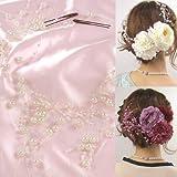 パールしずく髪飾り(単品) ベビーピンク 成人式 結婚式 振袖用 袴