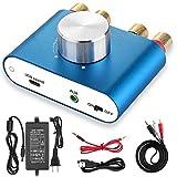 [新商品] Nobsound NS-01G Pro パワーアンプ bluetooth 50W×2 アンプ スピーカー HiFi オーディオ 電源付き (ブルー)