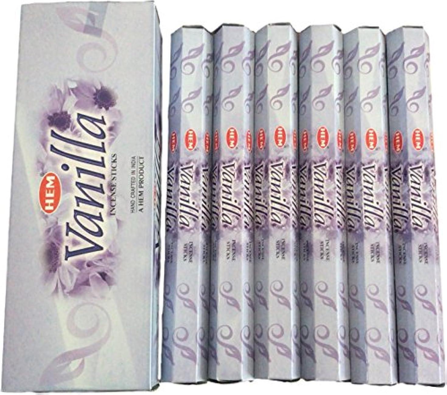 レジデンス部分的影響力のあるHEM ヘム バニラ Vanilla ステック お香 6箱