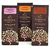 海外直送品 Godiva Chocolatier Ground Coffee Set, Premium Medium Roast Coffee, Chocolate Truffle + Hazelnut Creme +...