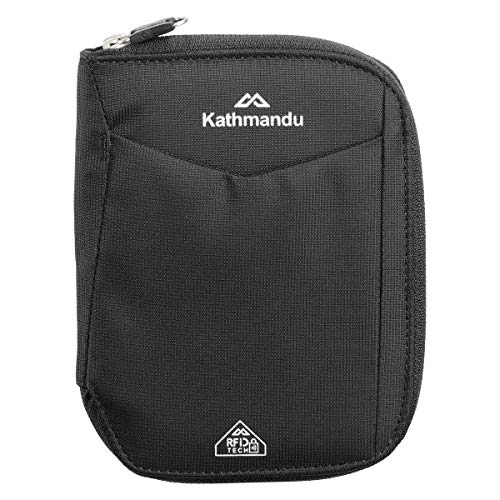 Kathmandu Small Departure RFIDtech Wallet v2 AntiScan Travel Safe Money/Bank Black