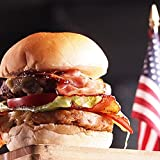 ダブルベーコンチーズバーガーセット  4人前【販売元:The Meat Guy(ミートガイ)】DOUBLE BACON CHEESE BURGER SET - FOR 4 BURGERS