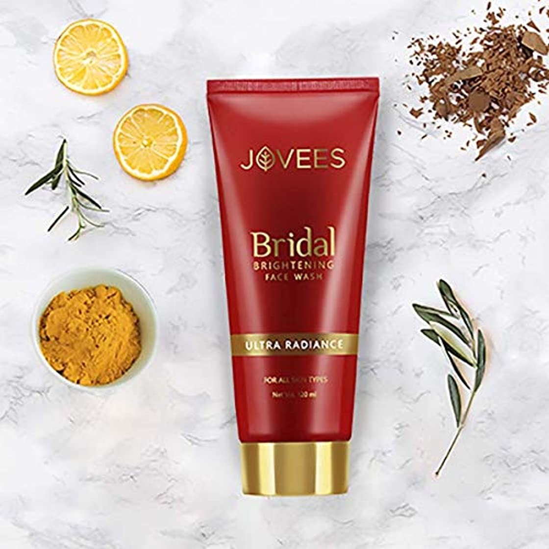 招待拍手する胴体Jovees Bridal Brightening Face Wash 120ml Ultra Radiance Even & brighter complex