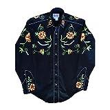 ロックマウント Floral Embroidery Cotton Gab Western Shirt レトロな専用ギフトBOX梱包済 RM6719 (L)