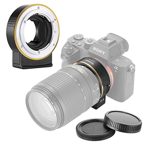 Neewer 電子AFレンズマウントアダプター オートフォーカス絞り制御 Nikon fレンズをSonyA9/A7R3/A7R2/A7M3/A7M2/A6500/A6300/A7R/A7S2/A7S/A7/NEX7/A6000/A5100 などSonyEマ