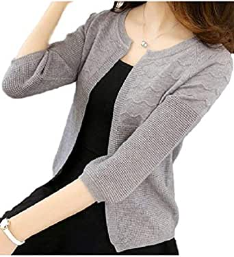 ce80c7c35c7bdd Amazon | [フローライズ] 冷房対策 夏 羽織り 5分袖 刺繍デザイン ...