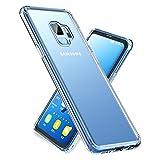 Galaxy S9 ケース 強化ガラスケース 全面クリア 全透明 薄型 背面ガラス9H硬度+TPUバンパー SCV38 ケース SC-02K ケース 保護カバー 軽..
