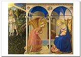 世界の名画・フラ アンジェリコ 受胎告知 ジークレー技法 B4高級ポスター