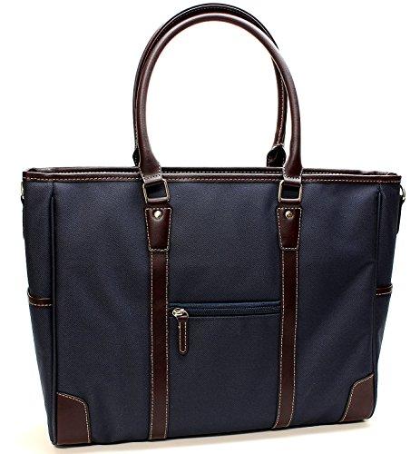 [メンズ カンパニー]Men's company ビジネスバッグ 手持ちロング 2way (ネイビー 横型)