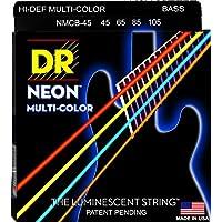 DR ベース弦 NEON ニッケルメッキ マルチ カラー コーテッド .045-.105 NMCB-45