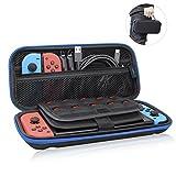 Nintendo Switch ケース- Aokeou 収納バッグ 大容量 ニンテンドー スイッチ専用バッグ 20枚カード収納 防塵 耐衝撃 全面保護(BLUE)