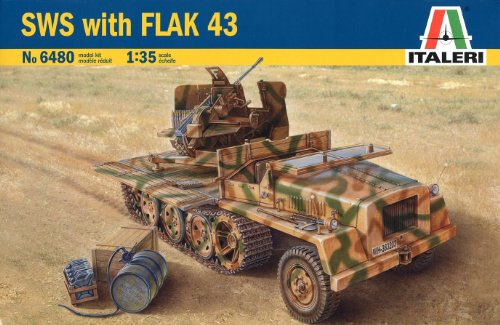 1/35 ドイツ 重国防軍牽引車 Flak43 搭載型 38480 (タミヤ イタレリ 1/35 ミリタリーシリーズ 6480)