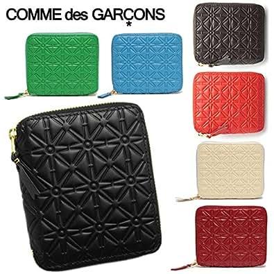 (コムデギャルソン) COMME des GARCONS コムデギャルソン 財布 COMME des GARCONS SA210EA EMBOSS PATTERN ラウンドファスナー財布 選べるカラー[並行輸入品]
