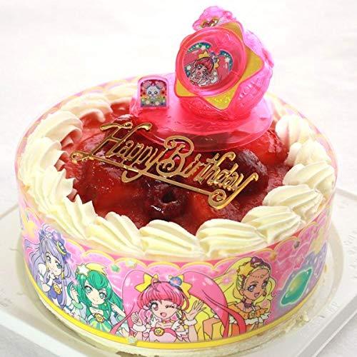 バースデー/スター☆トゥインクルプリキュア ・キャラデコお祝いケーキ・生クリーム苺デコレーションケーキ5号(バースデーオーナメント・キャンドル6本付き)