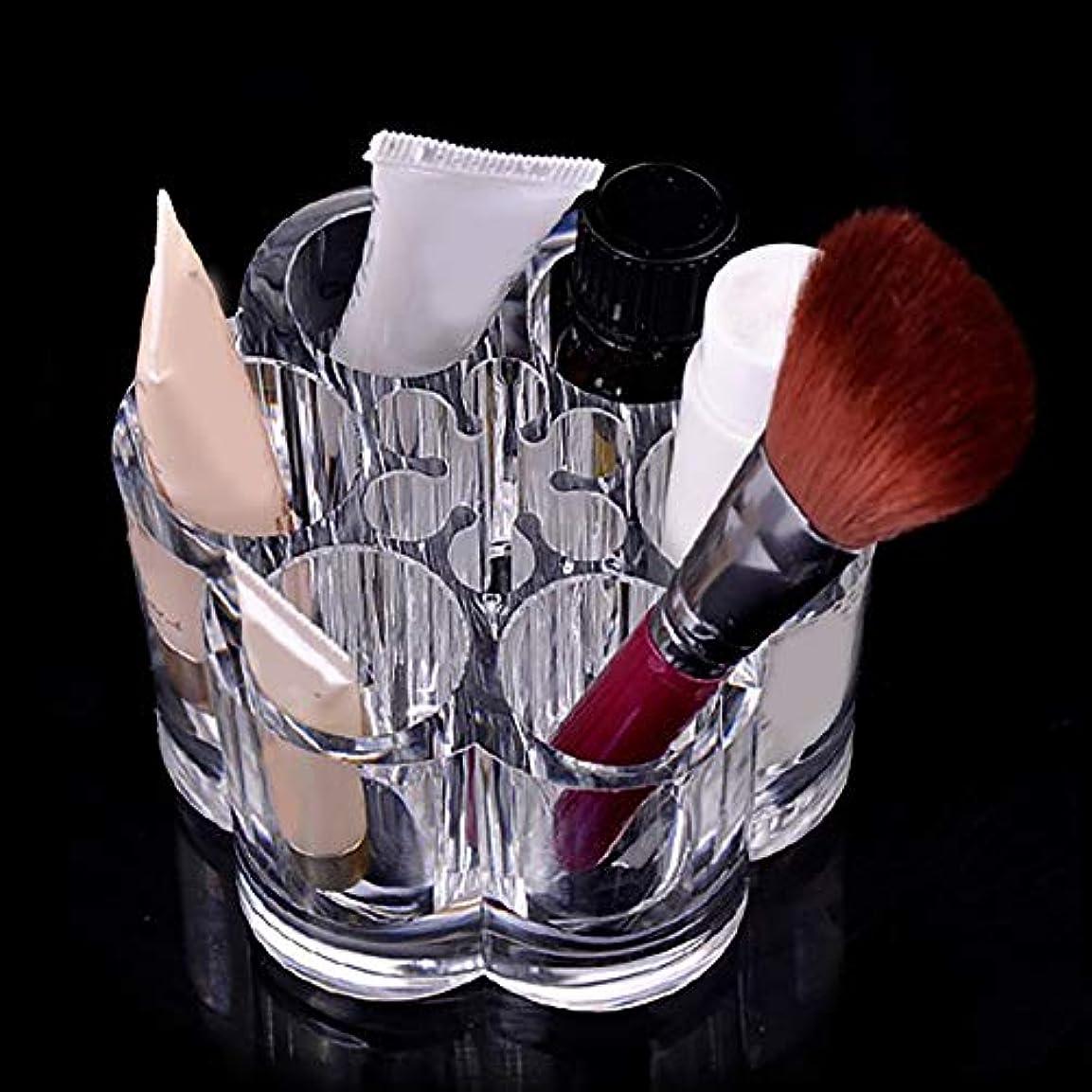 実り多い周囲通訳hamulekfae-化粧品綺麗梅の花透明アクリル化粧ブラシホルダー化粧品オーガナイザーディスプレイスタンド - 透明