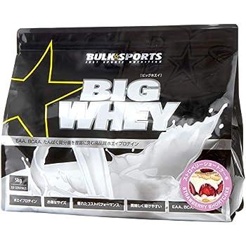 バルクスポーツ プロテイン ビッグホエイ 5kg ストロベリーショートケーキ【WPCプロテイン】