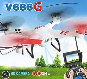 WLtoys V686G FPVクアッドコプター 200万画素HDカメラ搭載 モード2 ドローン ホワイト [並行輸入品]