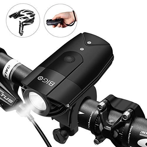 BIGO 自転車ライト フロントライト 非常時懐中電灯 ヘットライト USB充電 IP65 防水 大容量2000mah 前照灯