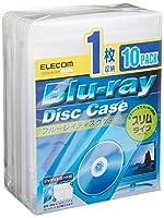 ELECOM スリムBlu-rayディスクケース(1枚収納タイプ、10枚セット) クリア CCD-BLUS110CR