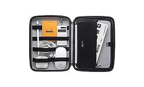 LALOO(ラルー) CLEVER PC周辺 スマホ タブレット iPad ガジェット 小物整理 収納 クラッチバッグ バッグインバッグ パリ発