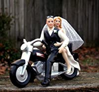 Motorcycle Cake Topper BALD Groom -- By Magical Day by Magical Day