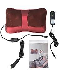 マッサージクッション、バックマッサージャーマッサージャー首の枕、頸部、腰部、足、足をリラックスさせる熱で国内オフィスと車の使用(US)