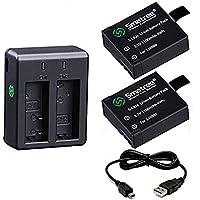 Smatree  アクションカメラ バッテリー MUSON DBPOWER Campark SJ4000 WIMIUSなど小型カメラに対応