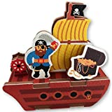 Pirate Bath Toys - 10 Piece Foam Set With Storage Bag/Organizer/Holder - Educational Toy For Kids - Bathtub Fun