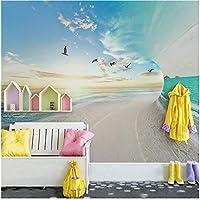 Xbwy 写真の壁紙現代3Dステレオ海空風景壁画壁紙リビングルームの寝室の背景の壁の家の装飾-150X120Cm