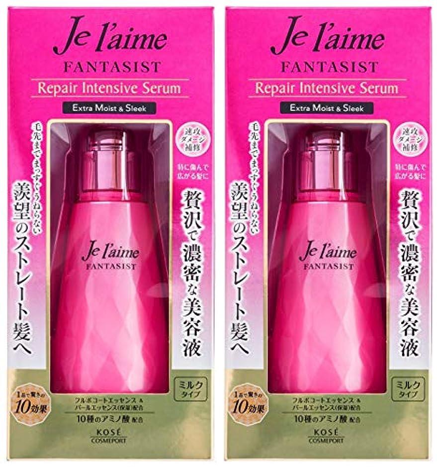 ジェム称賛シーンKOSE コーセー ジュレーム ファンタジスト リペア インテンシブ セラム ヘア 美容液 (ストレート) 125ml 2個