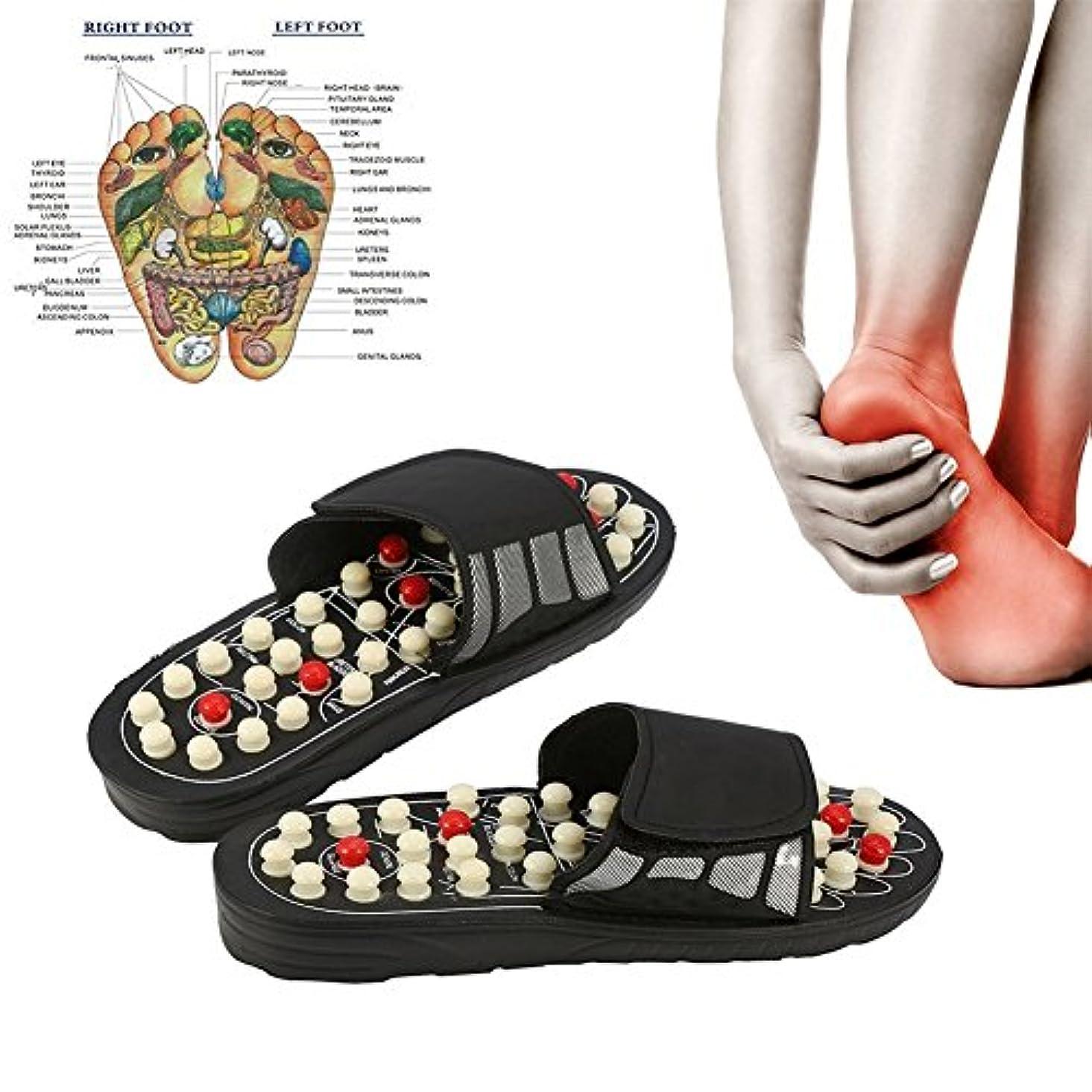 健康サンダル 健康スリッパ マッサージスリッパ 足つぼ ツボ押し ツボを刺激 リフレクソロジー 指圧 調節可能 (38-39)