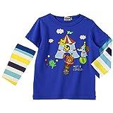 ミキハウス ホットビスケッツ(MIKIHOUSE HOT BISCUITS) ハッピーサーカス・ビーンズくん2Way長袖Tシャツ (80cm・90cm) 90cm 青