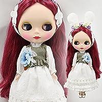 (ドーリア)Dollia ブライス 1/6ドール用 アウトフィット ラビットドレスセット 3点セット ドレス ベスト 髪飾り 服 ネオブライス ドール 人形