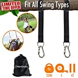ニューバランス バッグ (Black) - 2018 New Tree Swing Hanging Straps Kit Holds 1000kg 1.5m Extra Long Safer Lock Snap Carabiner Hooks Perfect for Tree Swing & Hammocks Carry Pouch Bag Heavy Duty