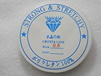 【★透明ゴム『水晶の線』★】 長さ約7m 太さ0.8mm ポリウレタン100%