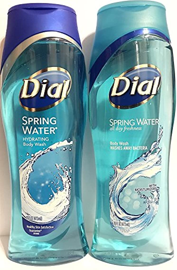 従事した司法受取人Dial Body Wash, Spring Water, 16 Fl. Oz - 2 pk by Dial [並行輸入品]